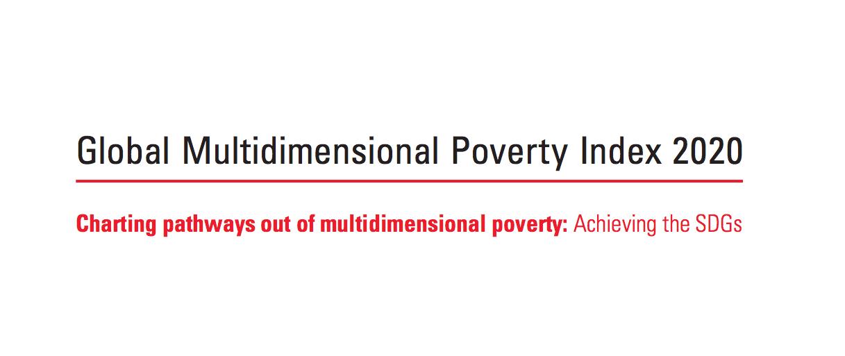 Global Multidimensional Poverty Index MPI India 2020