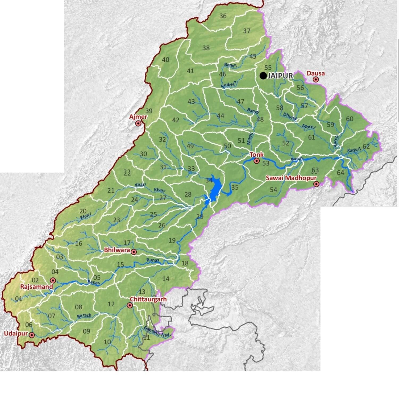 Banas RIver and its Tibutaries, Banas River Basin