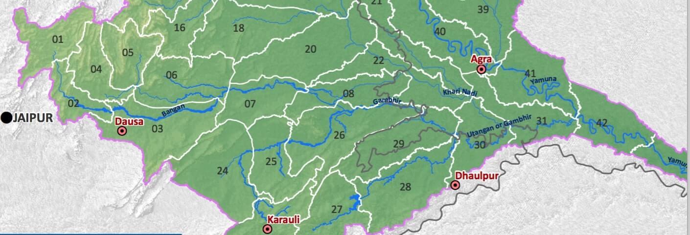 Gambhir River or Utangan River in Rajasthan