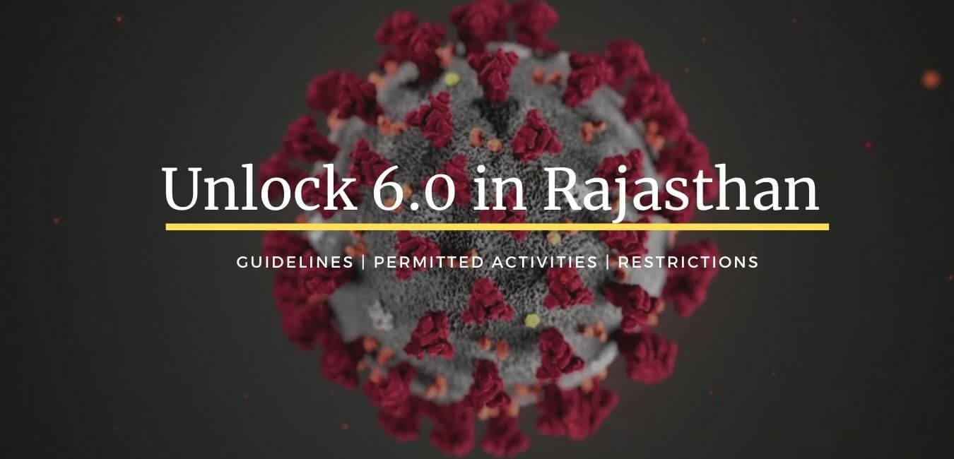 Unlock 6 in Rajasthan: Guidelines for November 2020
