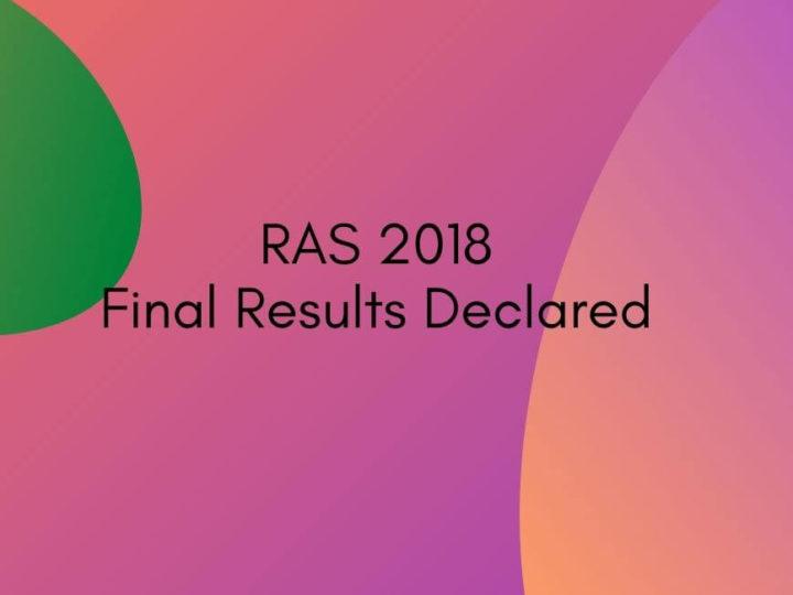 RPSC declares Final RAS 2018 Result | Mukta Rao Ranks First