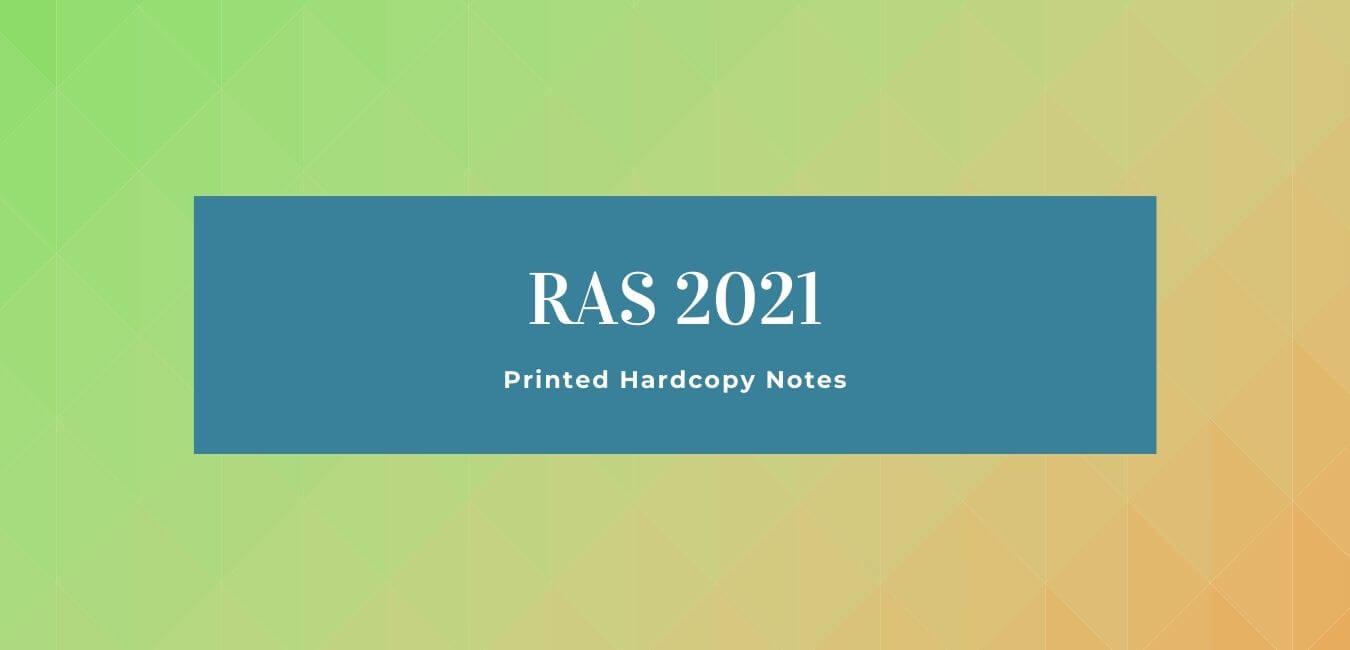 RAS 2021: Printed Hard Copy Notes