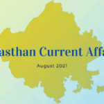 Rajasthan Current Affairs August 2021
