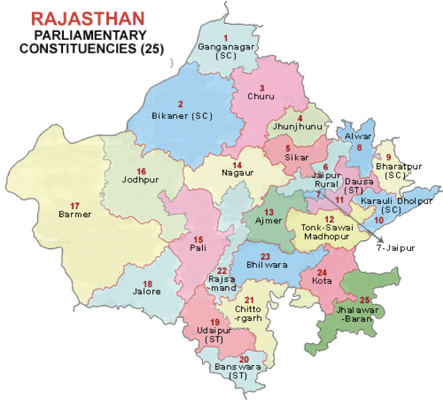 Map-of-Parliamentary-Consituencies-in-Rajasthan