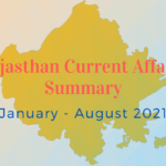 Featured Image Rajasthan Current Affairs 2021 January July August 2021