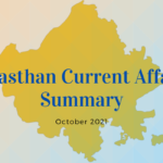Rajasthan Current Affairs Summary October 2021